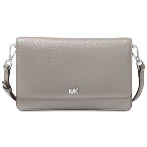 MICHAEL Michael Kors Pebbled Leather Silver-Tone
